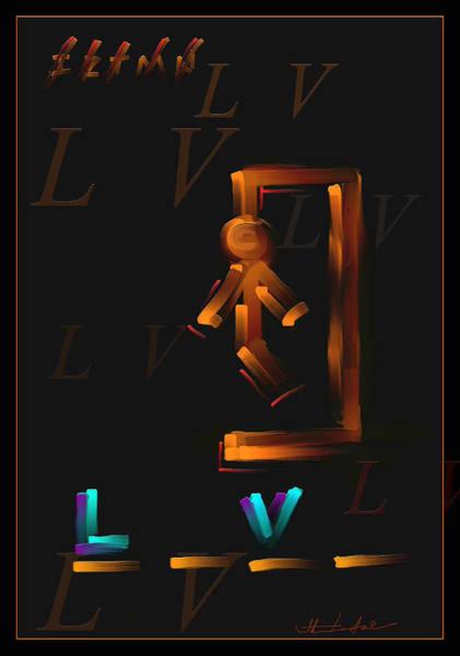 Wall Art - Painting - L V by Steven Lebron Langston