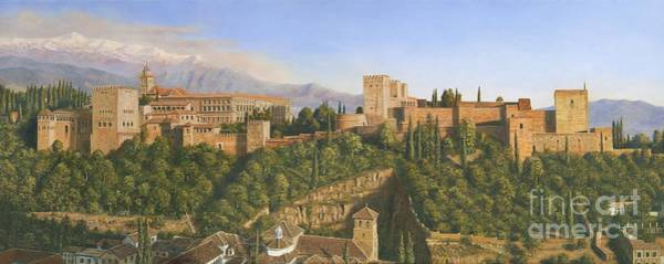 Andalucia Wall Art - Painting - La Alhambra by MGL Meiklejohn Graphics Licensing