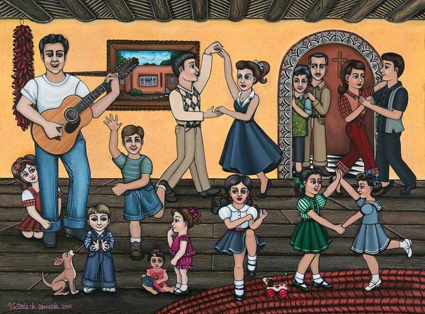 Spanish Guitar Wall Art - Painting - La Bamba by Victoria De Almeida