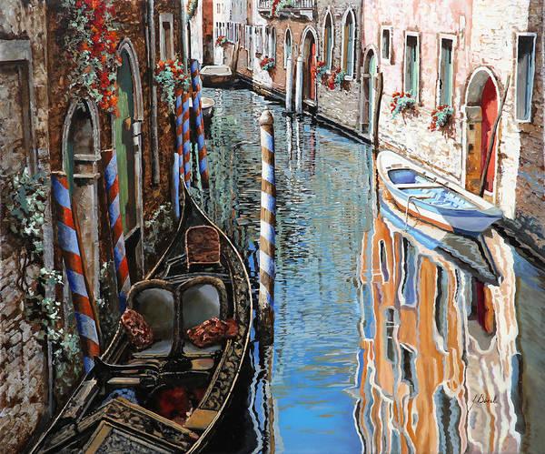 Gondola Painting - La Barca Al Sole by Guido Borelli
