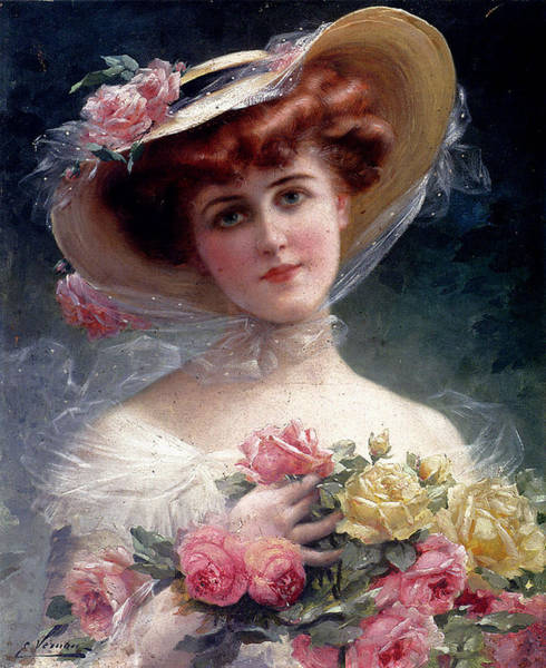 Digital Art - La Belle Aux Fleurs by Emile Vernon