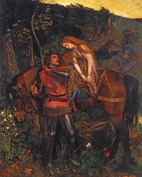 Arthur Hughes Digital Art - La Belle Dame Sans Merci  by Arthur Hughes