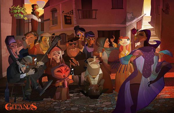 Digital Art - La Calle by Nelson Dedos Garcia