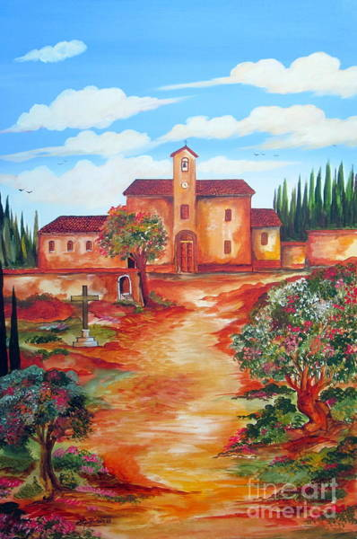 Padre Pio Wall Art - Painting - La Chiesetta Di Padre Pio In San Giovanni Rotondo by Roberto Gagliardi