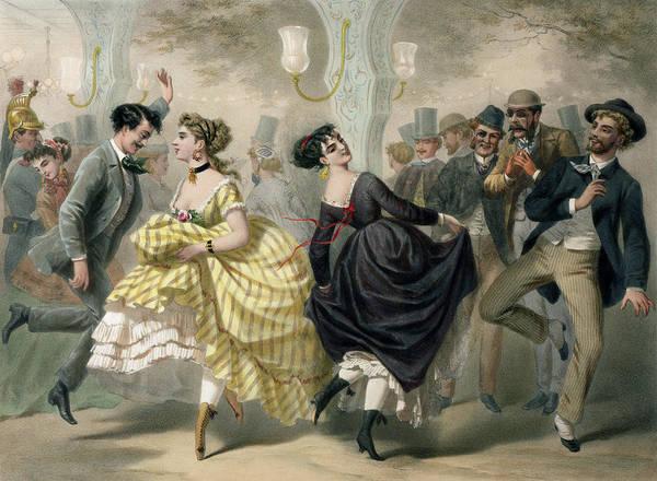 Dancing Men Painting - La Closerie De Lilas by Charles Vernier
