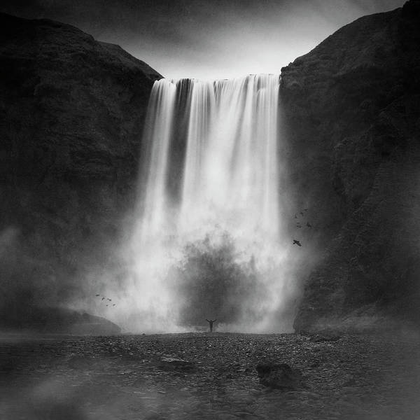 Water Fall Photograph - La Cola?re Du Dragon by Sebastien Del Grosso