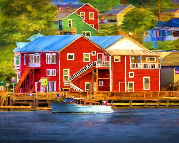 Wall Art - Painting - La Conner Waterfront by David Wagner