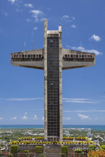 Photograph - La Cruz Del Vigia And City Skyline In Ponce Puerto Rico by Bryan Mullennix