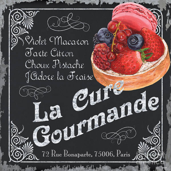 Border Wall Art - Painting - La Cure Gourmande by Debbie DeWitt