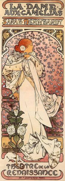 Painting - La Dame Aux Camelia by Alphonse Mucha