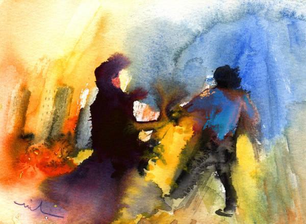 Painting - La Dame En Noir by Miki De Goodaboom