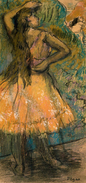 Pastel Drawing Painting - La Danseuse by Edgar Degas