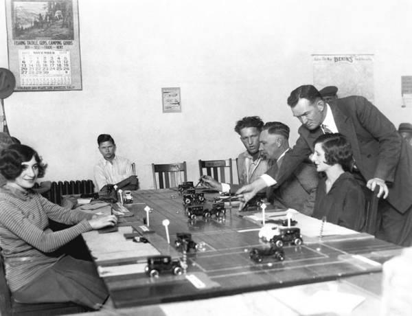 Talent Photograph - La Drivers' License Test by Underwood Archives
