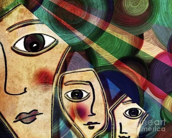 Filipino Drawing - La Familia by Angelica Smith Bill
