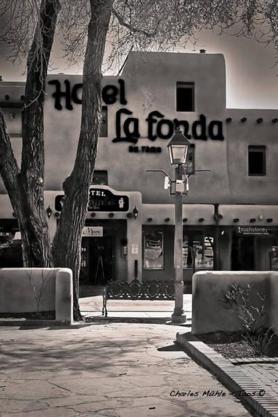 Photograph - La Fonda De Taos by Charles Muhle