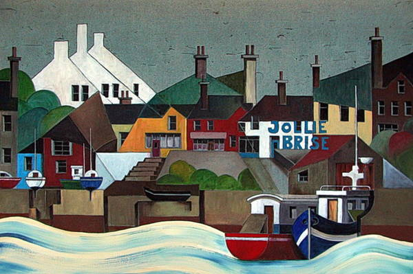 Painting - La Jolie Brise  Baltimore Cork by Val Byrne