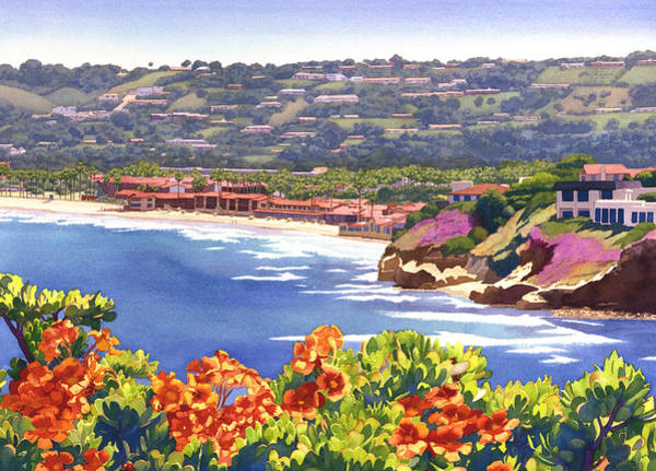 Pacific Painting - La Jolla Beach And Tennis Club by Mary Helmreich