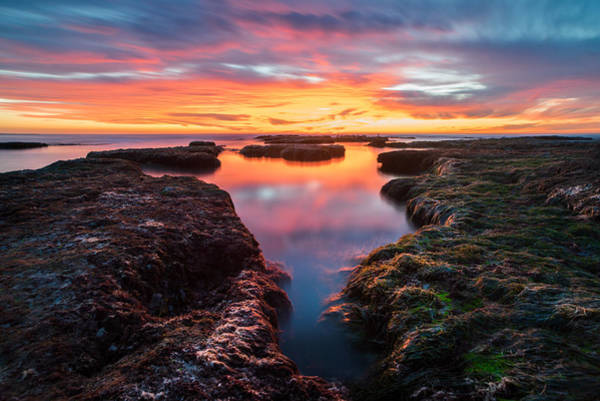 Long Exposure Wall Art - Photograph - La Jolla California Reflections by Larry Marshall