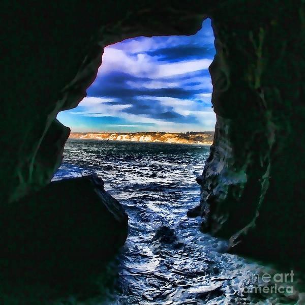 Photograph - La Jolla Cave By Diana Sainz by Diana Raquel Sainz