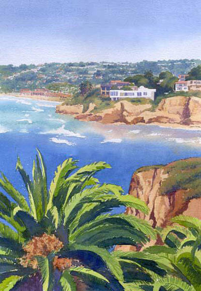 Coast Painting - La Jolla Coast by Mary Helmreich