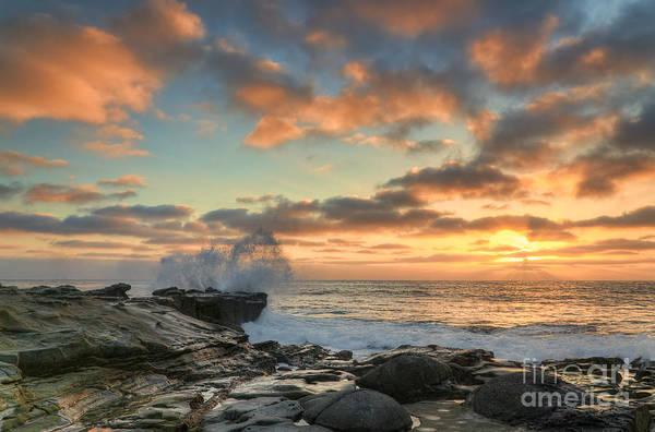 Photograph - La Jolla Cove At Sunset by Eddie Yerkish
