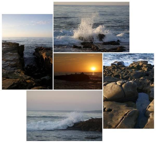Photograph - La Jolla Cove Collage by Dimitry Papkov