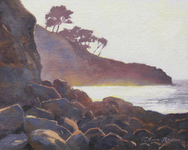 California Landscape Painting - La Jolla Light by Anna Rose Bain