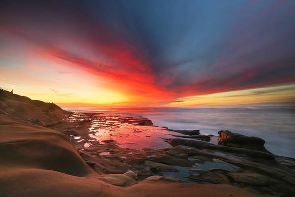 San Diego Photograph - La Jolla Reef Sunset 13 by Larry Marshall