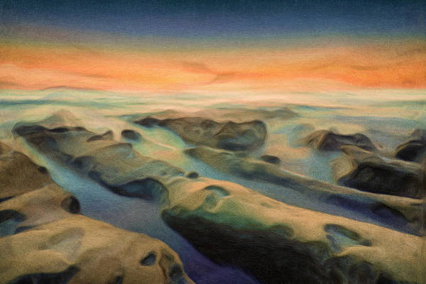 Sunset Mixed Media - La Jolla Reimagined by Joel Olives