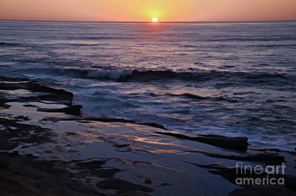 Photograph - La Jolla Sunset Reflection by Sharon Tate Soberon