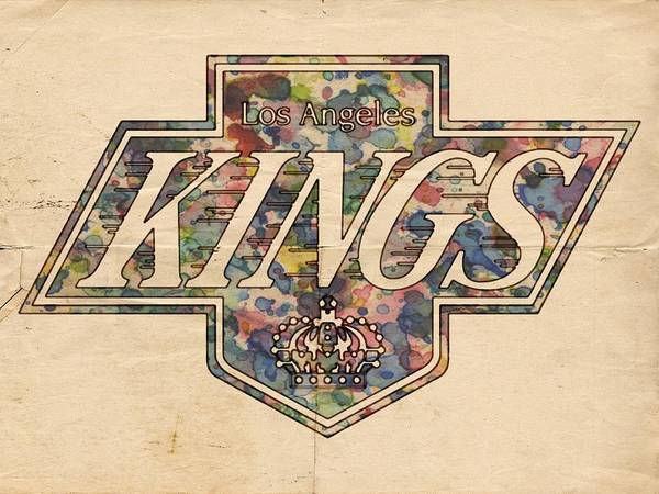 Painting - La Kings Vintage Art by Florian Rodarte