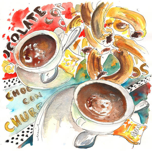 Painting - La Laguna Churros Y Chocolate by Miki De Goodaboom