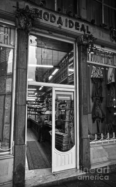 Photograph - La Moda Ideal Fabrics Store Bw by RicardMN Photography