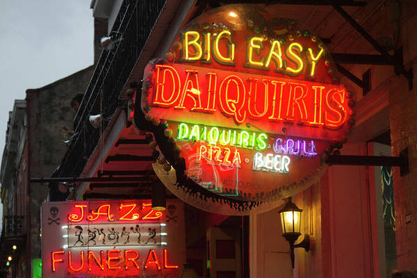 Bourbon Street Wall Art - Photograph - La, New Orleans, French Quarter, Neon by Jamie and Judy Wild