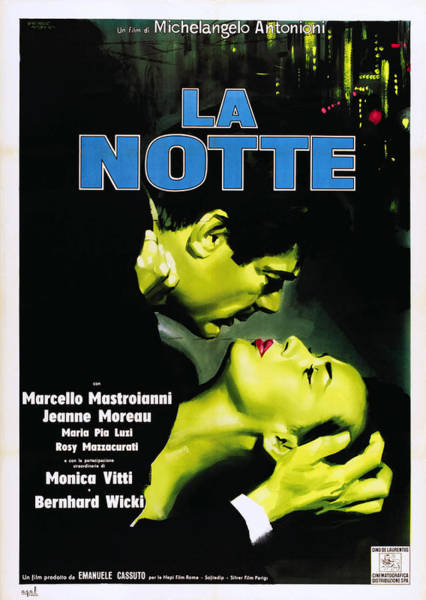 Infidelity Wall Art - Photograph - La Notte, Italian Poster Art, From Left by Everett