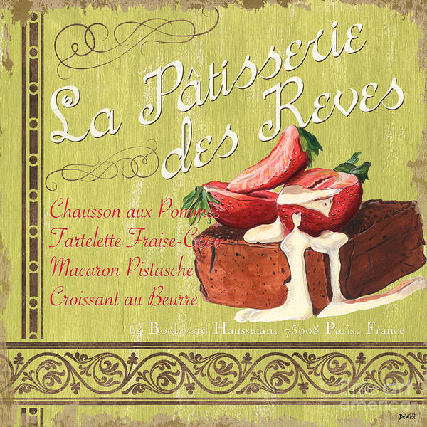 Bakery Painting - La Patisserie Des Reves 2 by Debbie DeWitt