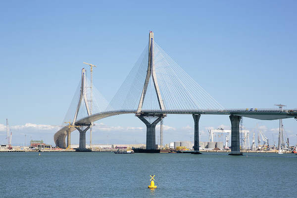 La Pepa Bridge Under Construction Art Print by Iñaki Respaldiza