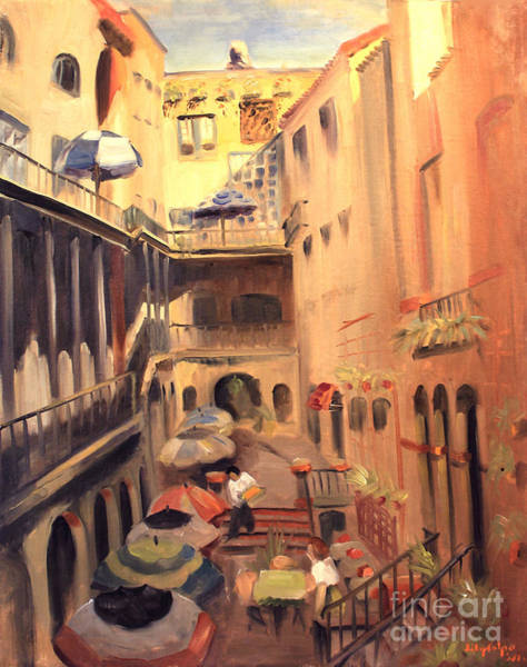 Painting - La Petit Gourmet Of The Italian Court Bldg 619 N. Michigan Ave. Chicago  by Art By Tolpo Collection