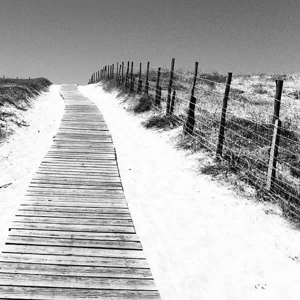 Boardwalk Wall Art - Photograph - La Plage. Hossegor by Brad James