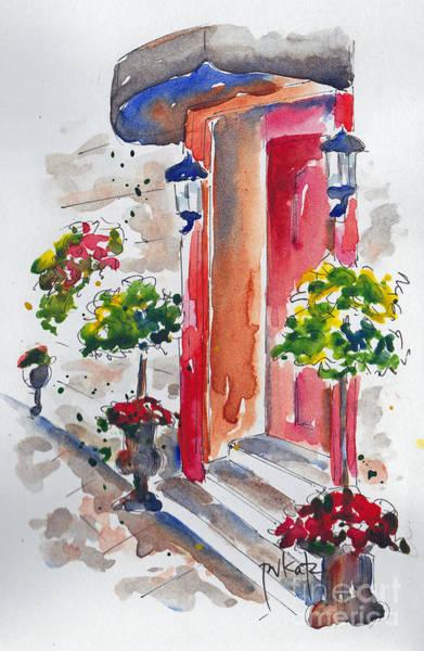 Painting - La Porte Rouge - Vieux Quebec by Pat Katz