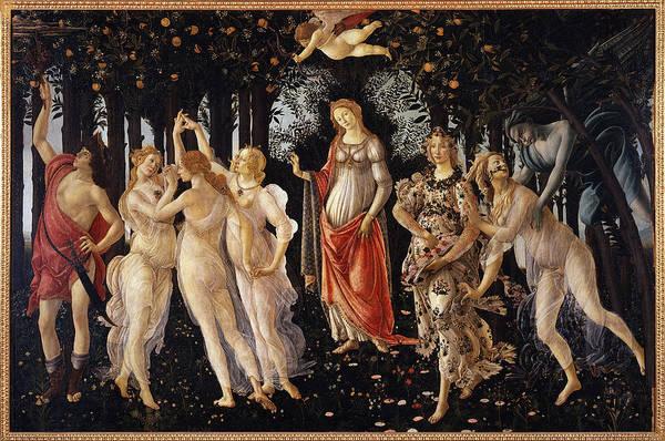 Botticelli Wall Art - Painting - La Primavera by Sandro Botticelli