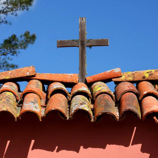 La Purisima Mission Photograph - La Purisma Mission Cross by Art Block Collections