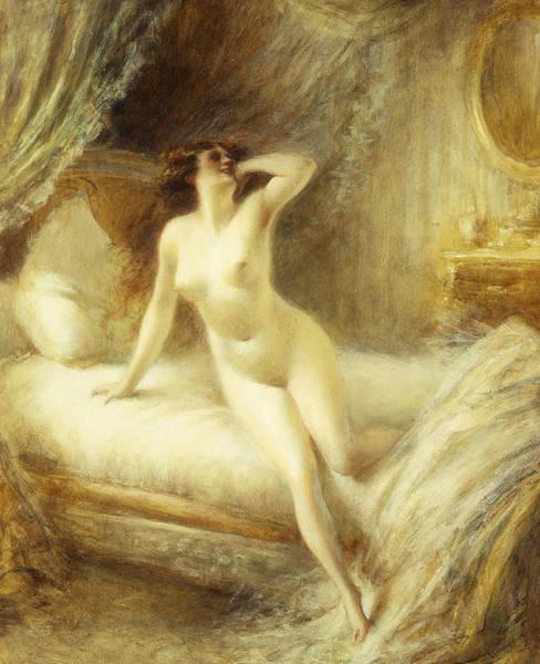 Drapes Painting - La Reveille by Albert Guillaume