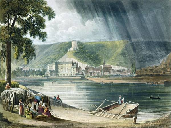 Rain Drawing - La Roche, From Views On The Seine by John Gendall