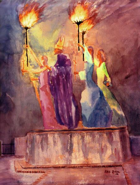 Acuarela Painting - La Rogativa San Juan Puerto Rico by Estela Robles