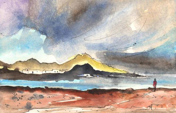 Lava Drawing - La Santa In Lanzarote 01 by Miki De Goodaboom
