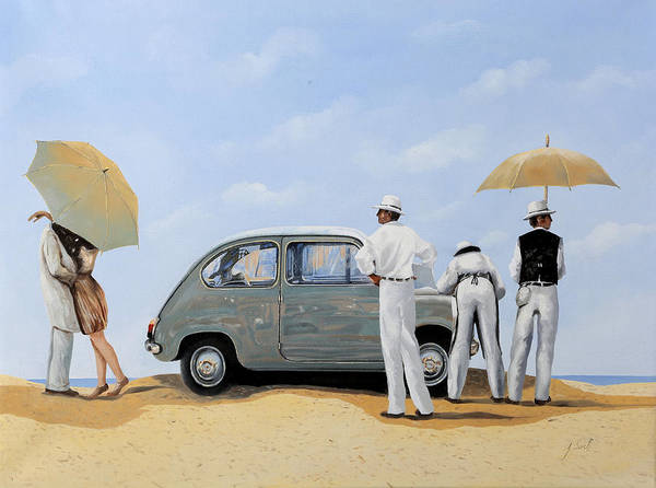 Car Painting - La Seicento by Guido Borelli