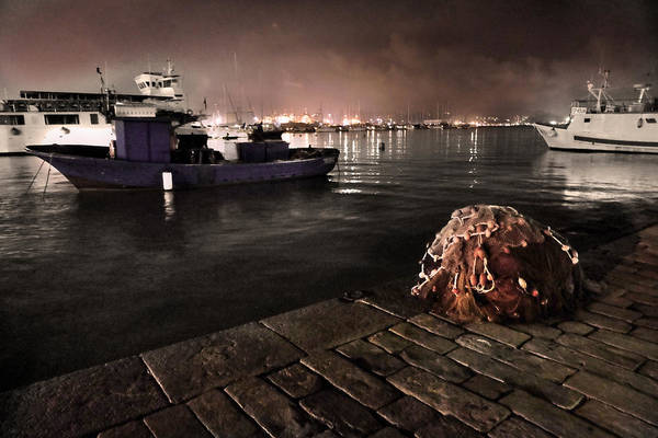 Harbor Scene Digital Art - La Spezia Harbor Nocturne by William Fields