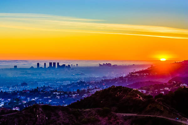 La Sunset Art Print by Carl Larson Photography
