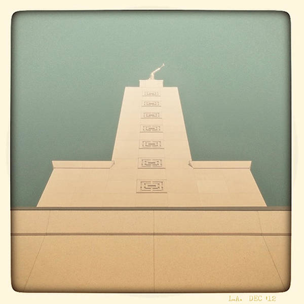 Photograph - L.a. Temple Green by Kevin Bergen